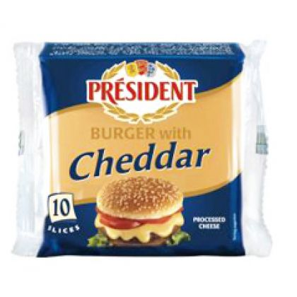 President Cheese Burger With Cheddar Slice