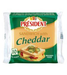 President Cheese Sandwich With Cheddar Slice