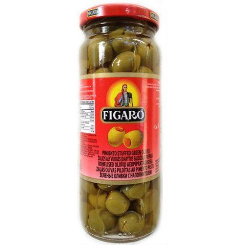 Figaro Plain Green Olives 142gm Sauce Gomart Pk
