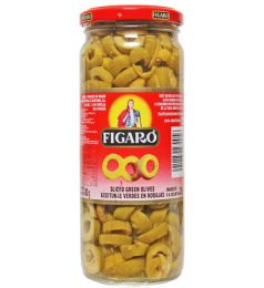 Figaro Sliced Green Olives (130gm)