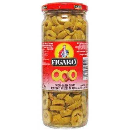 Figaro Sliced Green Olives (130gm)