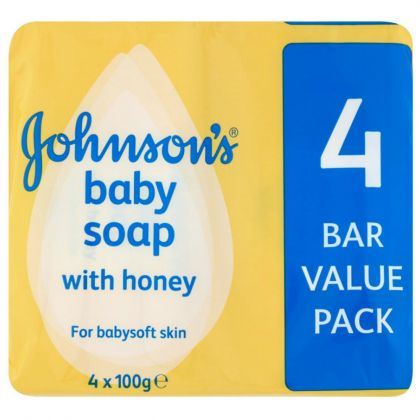 Johnson s Baby Soap with Honey 4 Bar Value Pack