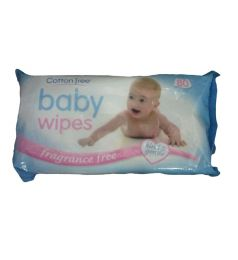 Cotton Tree Baby Wipes Fragrance Free 80Pcs
