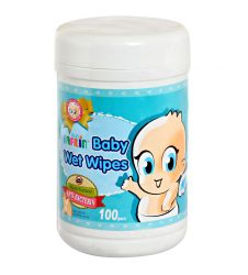 Farlin Baby Wet Wipes - Anti-Bacteria 100 Pcs Jar