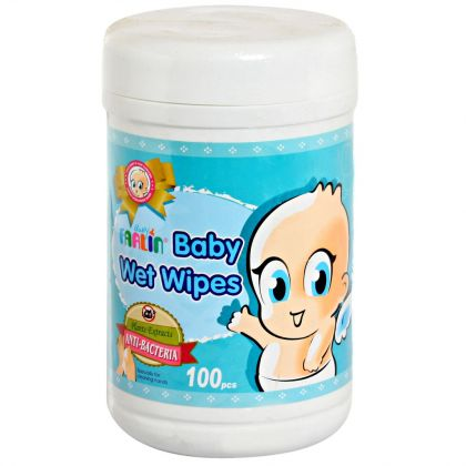 Farlin Baby Wet Wipes - Anti-Bacteria 100 Pcs Jar