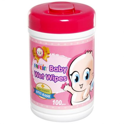 Farlin Baby Wet Wipes Anti-rash 100pcs Jar