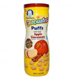 Gerber Graduates Puffs Cereal Snack Apple Cinnamon 42g