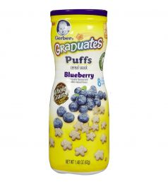 Gerber Graduates Puffs Cereal Snack Blueberry 42g