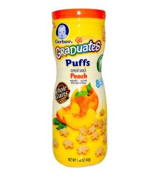 Gerber Graduates Puffs Cereal Snack Peach 42g