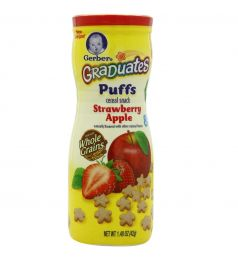 Gerber Graduates Puffs Cereal Snack Strawberry Apple 42g