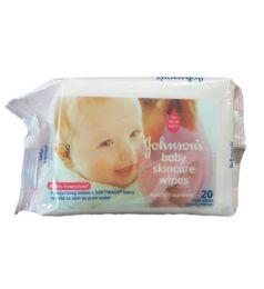 Johnson's Baby Skin Care Cloth Wipes  20 Pcs