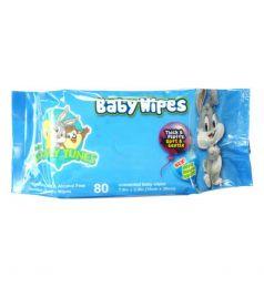 Looney Tunes Baby Wipes 80Pcs