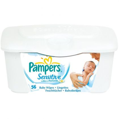 Pampers Sensitive Wet Wipes Box 56 Pieces
