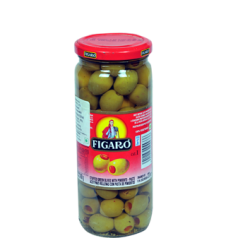 Figaro Green Olives With Pimento Paste (575gm)