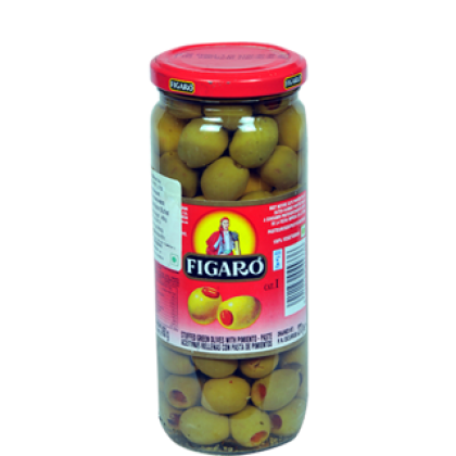 Figaro Stuffed Green Olives With Pimento (140gm)