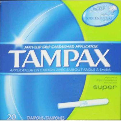 Tampax Super 20s.