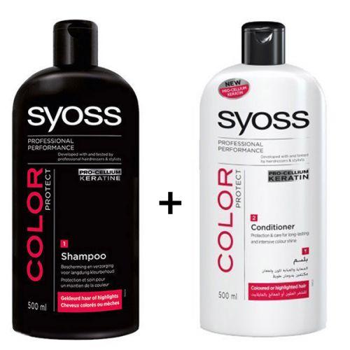 Syoss Color Luminance & Protect Shampoo + Conditioner (500ml) - Hair ...