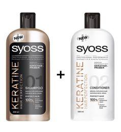 Syoss Keratin Shampoo + Conditioner (500ml)