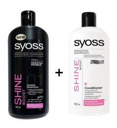 Syoss Shine Boost Shampoo + Conditioner (500ml)