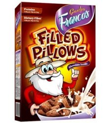Grandpa Francos Filled Pillows Choco 250gms