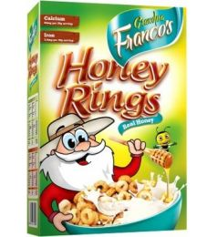 Grandpa Francos Honey Rings 250gms