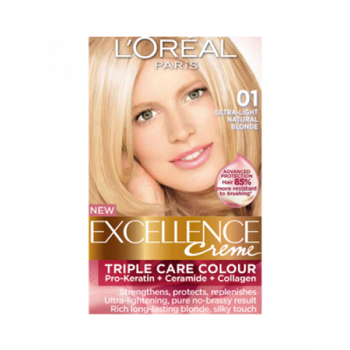 Loreal Excellence Creme 01 Ultra Light Natural Blonde Hair Color