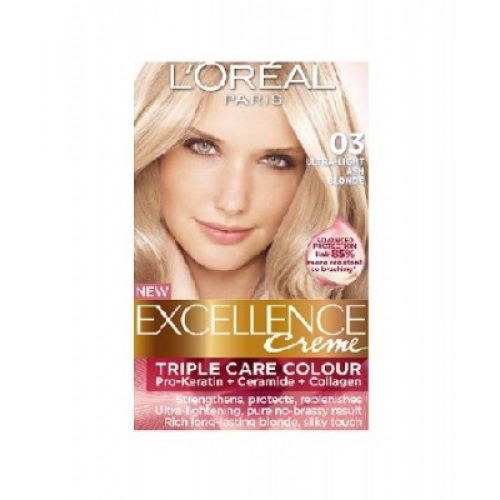 Loreal Excellence Creme 03 Ultra Light Ash Blonde Hair