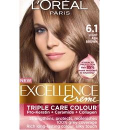 Loreal Excellence Creme 6.1 Light Ash Brown