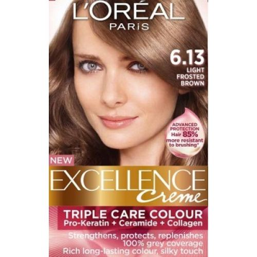 Loreal Excellence Creme 613 Light Frosted Brown  Hair Color Amp Dye  Gom