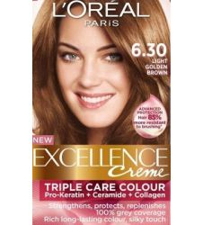 Loreal Excellence Creme 6.30 Light Golden Brown
