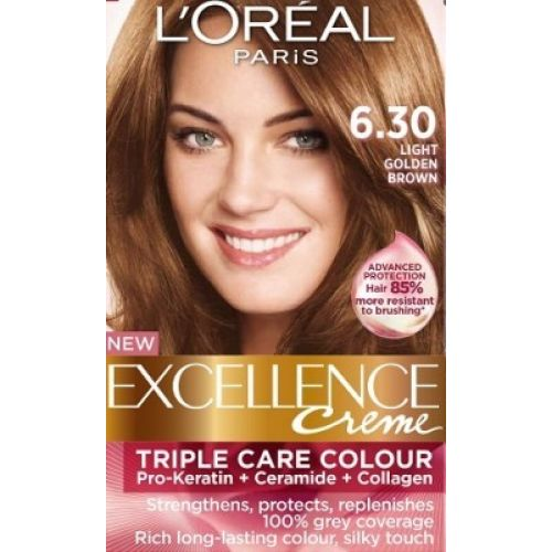 ... > Hair Color & Dye> Loreal Excellence Creme 6.30 Light Golden Brown