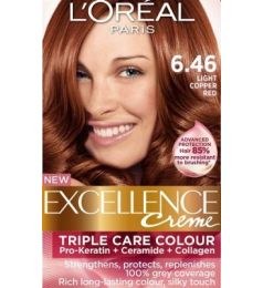Loreal Excellence Creme 6.46 Light Copper Red