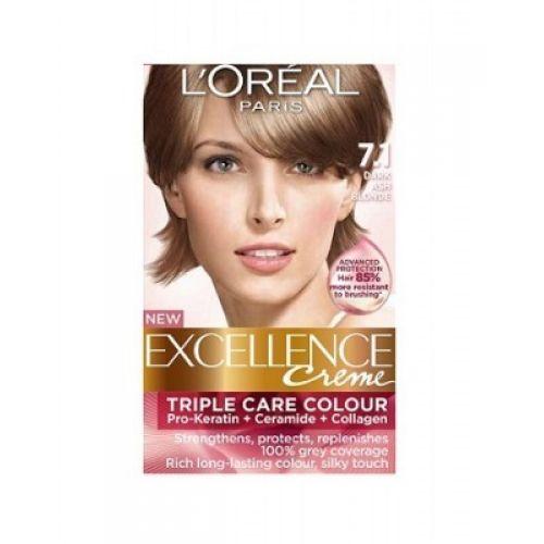 Loreal Excellence Creme 71 Dark Ash Blonde  Hair Color Amp Dye  Gomartpk