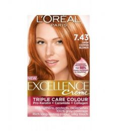 Loreal Excellence Creme 7.43 Dark Copper Blonde