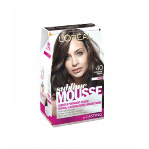 Loreal Paris Sublime Mousse 400 Pure Dark Brown Hair Color Dye Gomart Pk