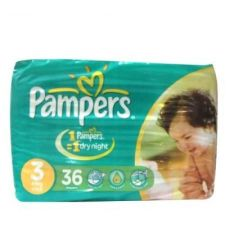 Pampers Jumbo Pack Diapers 3 Midi 4-9 Kg (36Pcs)
