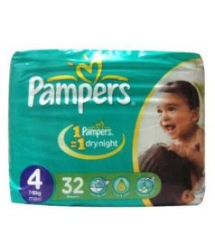 Pampers Jumbo Pack Diapers 4 Maxi 7-18 Kg (32Pcs)