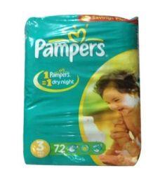 Pampers Mega Pack Diapers 3 Midi 4-9 Kg (72Pcs)