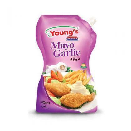 Young s Mayo Garlic (500Ml)
