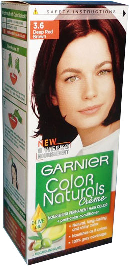 Garnier Color Naturals No 3 6 Deep Red Brown Hair