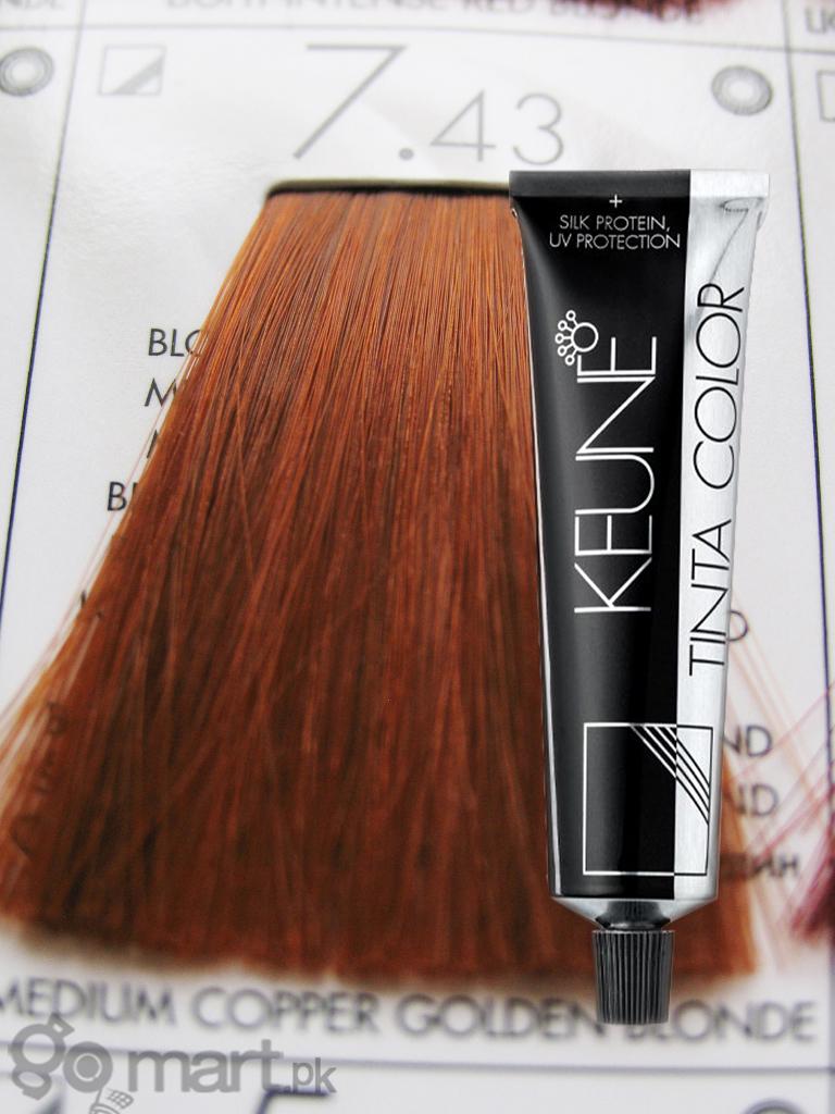 Keune Tinta Color Medium Copper Golden Blonde 7 43 Hair