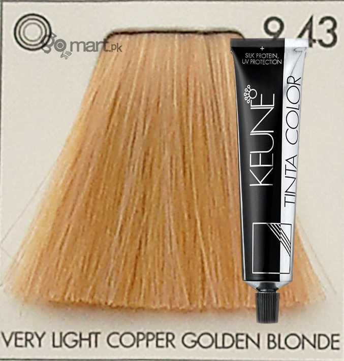 keune tinta color very light cooper golden blonde 943