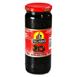 Figaro Sliced Black Olives 130gm Sauce Gomart Pk
