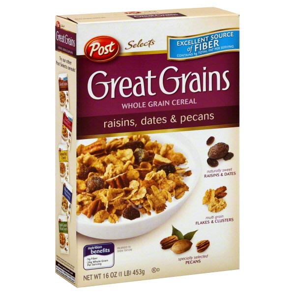 Post Great Grains Raisin Date Amp Pecan Cereal 453gm