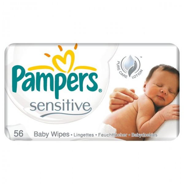Pampers Sensitive Baby Wipes 56 Pcs Wipes Gomart Pk