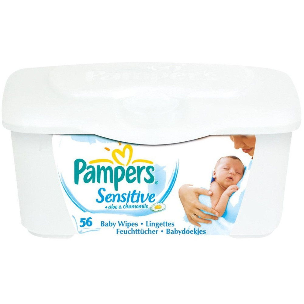 Pampers Sensitive Wet Wipes Box 56 Pieces Wipes Gomart Pk