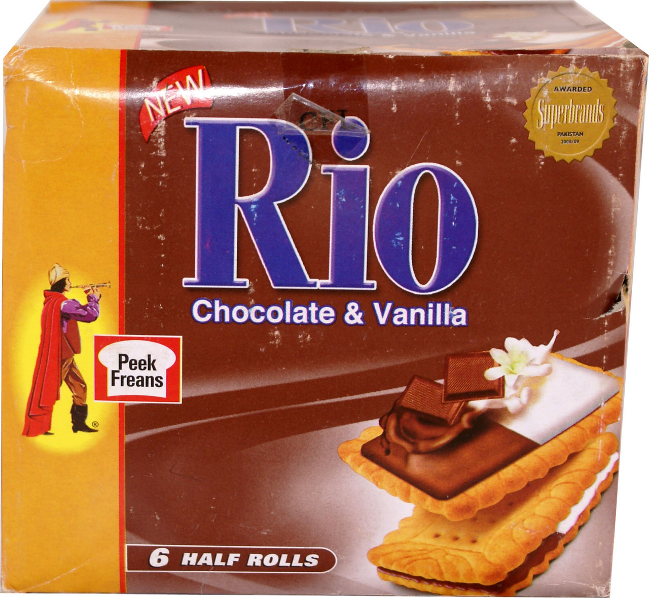 Peek Freans Rio Chocolate 6 Half Roll Box Snacks Chips
