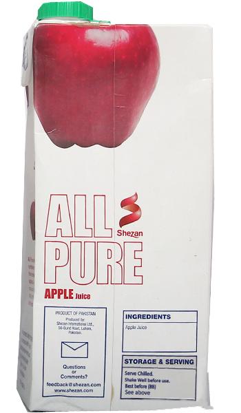 Shezan All Pure Apple Juice 1ltr Juices Gomart Pk