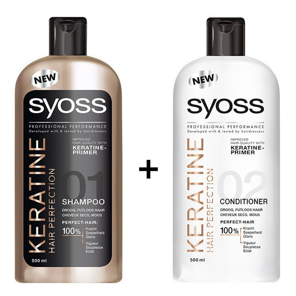 Syoss Keratin Shampoo Conditioner 500ml Hair Shampoo