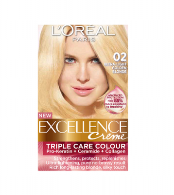 Loreal Excellence Creme 02 Ultra Light Golden Blonde ...